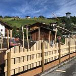 Spielplatz sport.park: Zaun schneiden und fasen