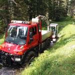 Rohrdurchlass ausbaggern Spullerwald