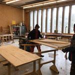 Sanierung Gemeindestall Zug, neue Türen fertigen in der Tischlerei