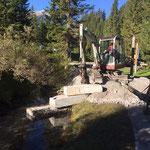 Waldbad Lech - Vorbereitungsmaßnahmen für Betonmischer - Standplatz