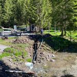 Wasser- und Stromleitungen verlegen Waldbad