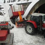Rampenbau über die Galerie für Winterwanderweg Lech-Seekopf