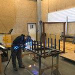 Schiebewagen für Stehtische LZTG konstruieren in der Schlosserei