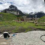 Wasserleitungsarbeiten für Brunnen Jugendplatz