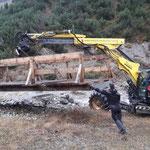 Sanierung Brückenfundament Winterwanderweg Zürs-Lech, mit Transporte Kessler