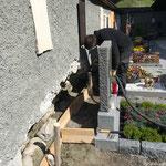Sanierung Friedhof, Betonierarbeiten