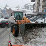 Lader 524, Schneeräumung
