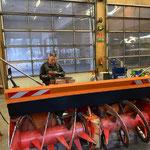Fräse Unimog 530, Reparatur- und Servicearbeiten