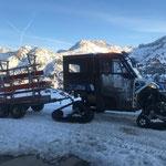 Bänke ausführen Winterwanderweg Kriegeralpe