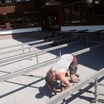 Aufbau Schulplatzbühne