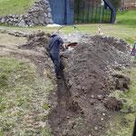 Zusatzleitung Wasserversorgung Sprenkleranlage Fußballplatz