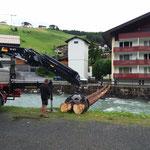 Kabelbrücke aufbauen für Stammgästetreffen