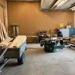 Vorbereitungsarbeiten neuer Grillplatz Waldbad in der Tischlerei