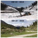 Schnee von gestern: Auffräsen Richtung Formarin 2019