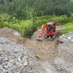 Wegearbeiten Wasserzügeweg Richtung Wiesele nach Unwetter letzter Woche