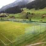 Fußballplatz linieren