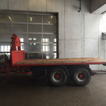 Bigab Hakenliftanhänger mit Plattform (alternativ Mulde und Container)