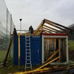 Fußballplatzhütten - Abbau