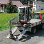 Baggertransport mit Lindner Unitrac