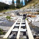 Brückenneubau unterhalb Bauhof, Wanderweg Lech-Zürs