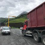 Testfahrt für Heizwerk Lech, neue Messstation Ladegut