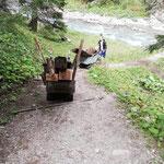 Altholz abholen Brücke Bodenalpe