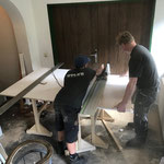 Arbeiten für Umbau Heimatmuseum Feuerwehrhaus - Probelokal Trachtenkapelle