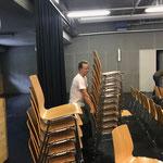 Jazzbühne Lech, Stühle stellen