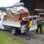 Schlittentransport für Lechmuseum, Schenkung aus Oberlech