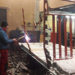 Umbau alter Ladewagenanhänger in der Schlosserei