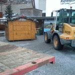 Abbau- und Rückfuhrarbeiten Weihnachtsveranstaltungen Rüfiplatz