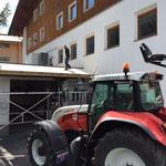 Neues Vordach Rotes Kreuz Garage - Feuerwehrhaus 2015