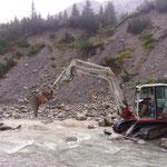 Sanierung Lechweg Höhe Markbach nach Unwetter, durch Schneider Erdbau