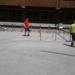 Schulplatzzelt aufbauen