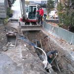 Wasserleitung neu verlegen Hotel Arlberg