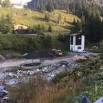 Aufräumarbeiten Lagerplatz Stubenbach, mit Lader L509