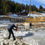 Eisräumung Baustelle GZL