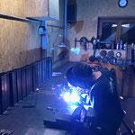Wand-Aufhängungen schweißen für Arbeitskörbe