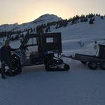 Müllrunde Winterwanderwege Oberlech