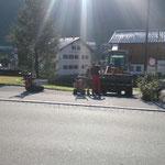 Vorbereitungsarbeiten Beleuchtungsreparatur Burgwaldweg