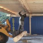 Flugdach Bauhof: Steher stellen