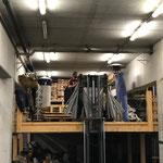 TRANS Vorarlberg, Radständer im Bauhoflager versorgen