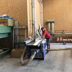Projekt Zuger Säge, Material vorbereiten in der Tischlerei...