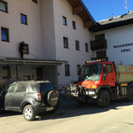 Wascharbeiten Gemeindehaus Zürs