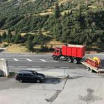 Abfahrt unseres U530 nach Waidring, Tirol. Kommunalgeräte Präsentation der Pappas Gruppe