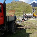 Ausbaggern mit Straßenbauamt
