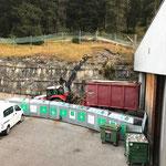 Grünschnitt einfassen, Bauhof