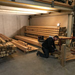 Holzlager für neue Holzwagen adaptieren
