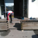 Infopoint Postgarage - Treppeneinbau