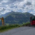 Baggerarbeiten für Glasfaserverbindung Hochbehälter Schlosskopf - Verwurfstation Salome, Karbühelleitung